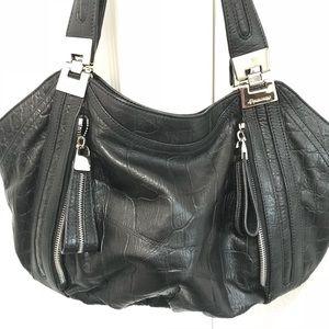 NWOT B MAKOWSKY croc embossed leather satchel